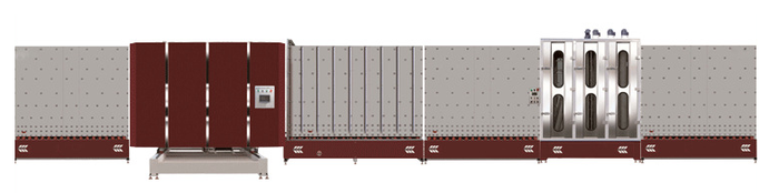 LB2500P立式板外合片中空玻璃生产线
