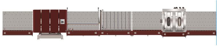 LB1800P板外合片立式中空玻璃生产线